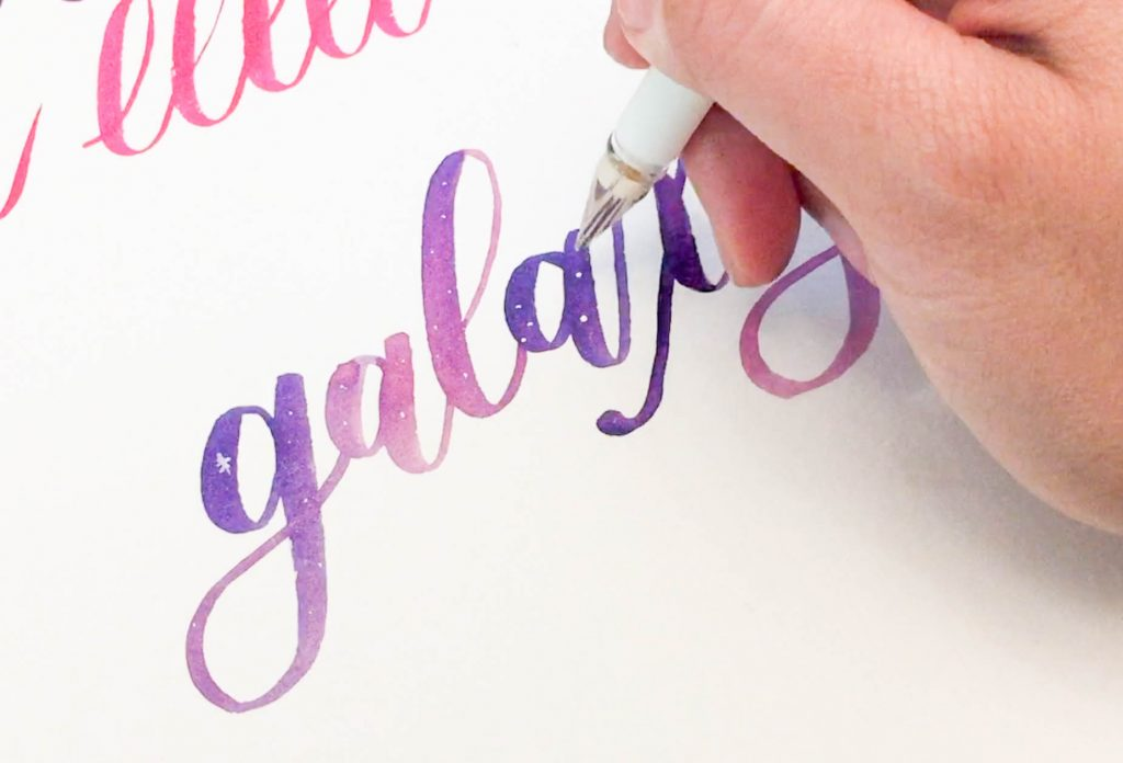 Mermaid Markers Review and Galaxy Lettering - Leslie Writes